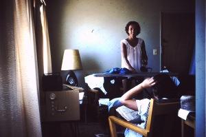 Emma Mae Ironing Clothes