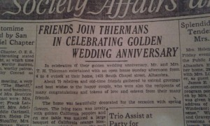 Thierman Anniversary Announcement