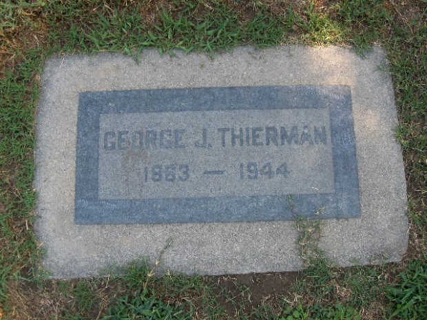 Grave site for George Julius Thierman