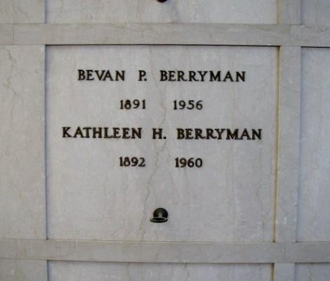 Bevan Berryman & Kathleen Thierman Headstone