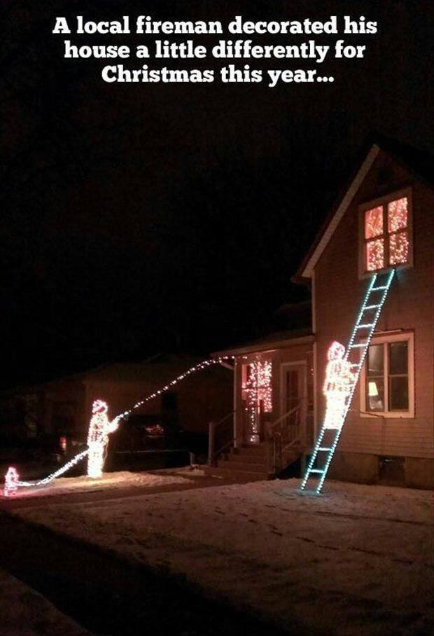 Creative Christmas Lights: From the home of a firefighter - Creative Christmas Lights: From The Home Of A Firefighter Sue