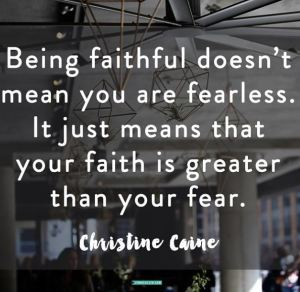 Being faithful ...